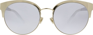 DIOR DIORAMAMINI J5G(DC) GOLD SILVER MIRRORED WOMENS CATSEYE STYLE SUNGLASSES
