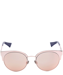 DIOR DIORAMAMINI S8R(0J)) PINK ROSE GOLD MIRRORED WOMENS CATSEYE STYLE SUNGLASSES