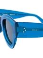CELINE ZOE CL41446/S MR8(QT) PETROL BLUE SQUARE TRANSPARENT DUAL LAYER FASHION SUNGLASSES