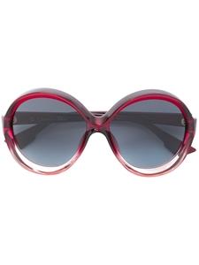 aa32f1fe79c Dior Bianca oversized burgundy and pink sunglasses - Designer ...