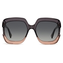 DIOR GAIA OVERSIZED SQUARE GREY AND PINK WOMENS SUNGLASSES