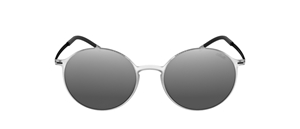 silhouette urban sun 4075 1040 round light grey men's glazeable sunglasses