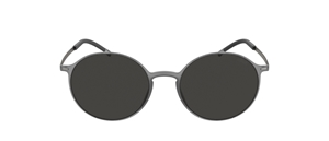 SILHOUETTE URBAN SUN 4075 6560 ROUND GREY MEN'S GLAZEABLE SUNGLASSES