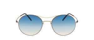 silhouette titan breeze 8694 3530 blue nude round glazeable sunglasses