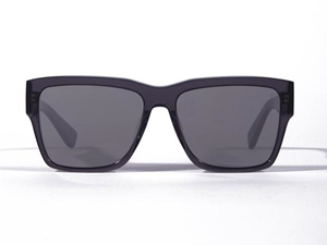 Belstaff Stirling Clear grey Japanese Takiron acetate wayfarer style sunglasses with grey Zeiss lenses