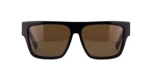 BELSTAFF STALLION BLACK/DARK TORTOISESHELL JAPANESE FLATTOP WAYFARER WITH BROWN ZEISS LENSES