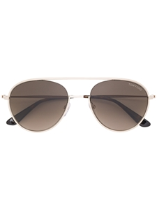 TOM FORD KEITH 02 FT0599 28K SHINY ROSE GOLD AVIATOR SUNGLASSES WITH BROWN ROVIEX LENSES
