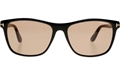 TOM FORD NICOLO 02 FT0629 01A SHINY BLACK WAYFARER WITH SMOKE GREY LENSES