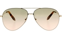 Victoria Beckham Classic Feather Khaki/Pink VBS119 C12 gold metal women's aviator