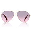Victoria Beckham Classic Feather Bordeaux/Grey VBS119 C10 gold metal women's aviator