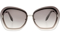 Victoria Beckham Floating Butterfly Graduated Grey/Silver VBS129 C01 gold cutout metal butterfly style sunglasses