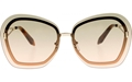 Victoria Beckham Floating Butterfly Graduated Khaki/Pink VBS129 C04 gold cutout metal butterfly style sunglasses