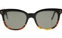 Victoria Beckham The VB BLACK and Tortoiseshell VBS94 C17 WOMENS CLASSIC WAYFARER STYLE WITH GOLD SIDE DETAILING AND GREY ZEISS LENSES