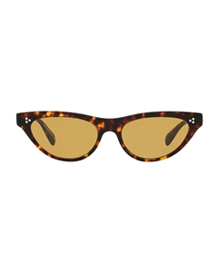 OLIVER PEOPLES ZASIA OV5379SU 165453 IN HAVANA WITH DEEP AMBER CRYSTAL LENSES