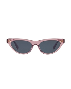 OLIVER PEOPLES ZASIA OV5379SU 1656R5 IN AMETHYST WITH BLUE LENSES IS A SHALLOW WOMENS CATSEYE