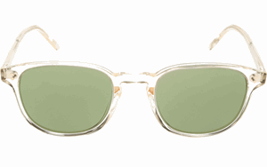 Oliver peoples fairmont sun OV5219S 109452 BUFF CLEAR CRYSTAL WITH GREEN C LENSES ARE A UNISEX RETRO STYLE SUNGLASS