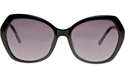 SWAROVSKI SK0165/S 01B BLACK OVERSIZED SQUARE WOMEN'S 70'S STYLE SUNGLASSES