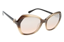 SWAROVSKI SK0165/S 47G LIGHT BROWN OVERSIZED SQUARE WOMEN'S 70'S STYLE SUNGLASSES WITH BROWN MIRRORED LENSES