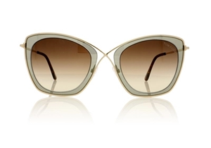 TOM FORD INDIA-02 FT0605/S 50K DARK BROWN/OTHER/ROVIEX WOMENS METAL BUTTERFLY SUNGLASSES