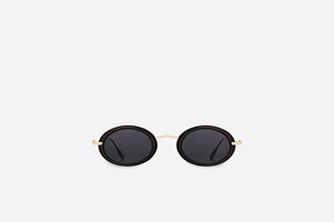 DIOR HYPNOTIC2 BLACK GOLD WOMENS HIGH FASHION OVAL SUNGALSSES