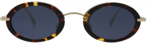 DIOR HYPNOTIC2 HAVANA/GOLD 21KA947 WOMENS HIGH FASHION OVAL SUNGALSSES