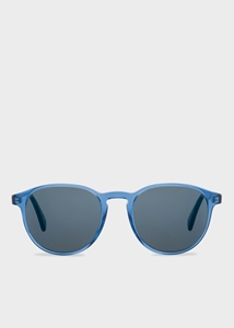 PAUL SMITH MAYALL BLUE ROUNDED MIRROR SUNGLASSES PM8263S/1636W6