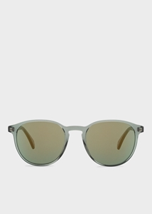 PAUL SMITH MAYALL MILITARY GREEN ROUNDED MIRROR SUNGLASSES PM8263S/15476R