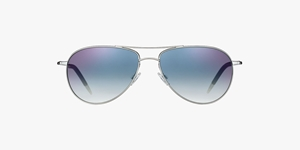 OLIVER PEOPLES BENEDICT AVIATOR OV1002/S 52413F IN SILVER CHROME WITH SAPHIRE PHOTOCHROMIC LENSES