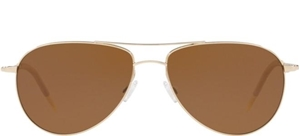 OLIVER PEOPLES BENEDICT OV1002/S 5035/57 GOLD/BROWN POLARIZED AVIATOR SUNGLASSES