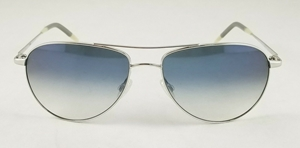 OLIVER PEOPLES OV1002/S 50363R SILVER BLUE POLARIZED AVIATOR UNISEX SUNGLASSES