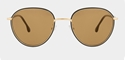 PAUL SMITH ALBION PSSN003V2-01 MATTE GOLD WITH BROWN GRADIENT UNISEX SUNGLASSES