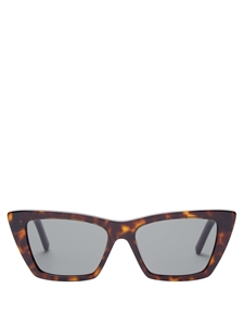 SAINT LAURENT MICA SL276 002 TORTOISESHELL GREY CATSEYE SUNGLASSES