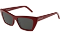 SAINT LAURENT SL276 003 MICA RED D FRAME CATSEYE SUNGLASSES