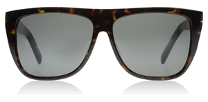 SAINT LAURENT SL1 004 FLATTOP HAVANA GREY SUNGLASSES