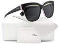 DIOR GRAPHIC 389/S BLACK PINK WOMEN'S HIGH FASHION SUNGLASSES