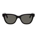 SAINT LAURENT SL 51 001 SMALL BLACK GLOSS WAYFARER LOGO UNISEX SUNGLASSES