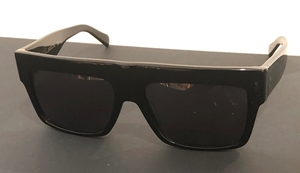 Celine ZZ TOP CL41756/S 8073H Black Flattop D frame OVersized archive collection