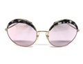 Picture of miu-miu-smu51Q-DHE-410-large-round-frame-marbel-overlay-top