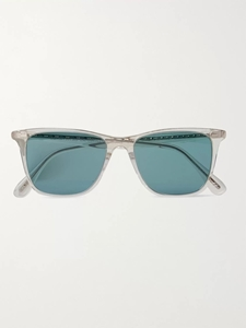 Oliver Peoples Ollis Sun in Pale Citrine with teal Polarised Lenses