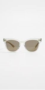 Oliver Peoples Marianela in wahed sage with gold mirrored detailing with brown lenses