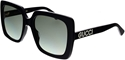 Gucci black oversized sunglasses with crystal branding GG0418/S 001