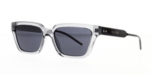 Gucci Rectangular smoke grey lenses crystal frame with star detailing